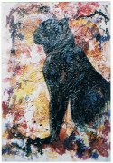 tableau panthere noire felin animaux sauvages : The black Panther